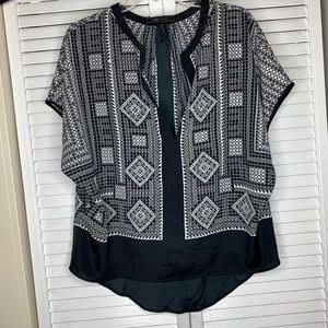 Black and White BCBG summer blouse